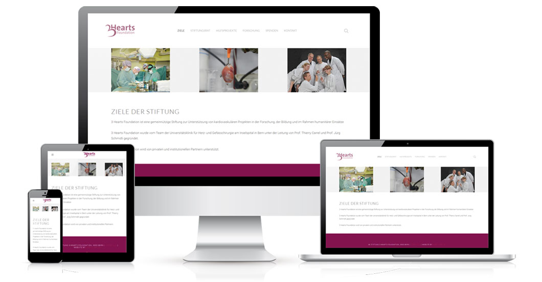 3heartsfoundation responsive
